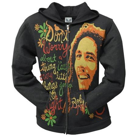 Bob Marley - Three Little Birds Juniors Zip Hoodie
