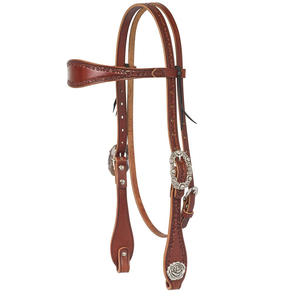Weaver Leather  Filigree  Browband Headstall  Chestnut
