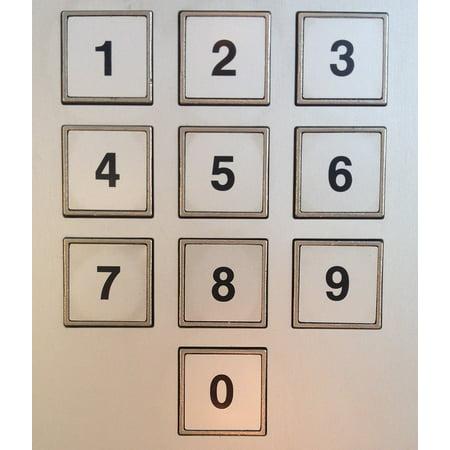 Laminated Poster Numeric Keypad Input Keyboard Number Field Pin Poster Print 11 x (Pink Keypad)