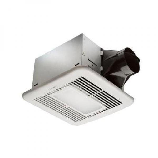 Hampton Bay 80 CFM Ceiling Exhaust Fan with LED Light and Nightlight by