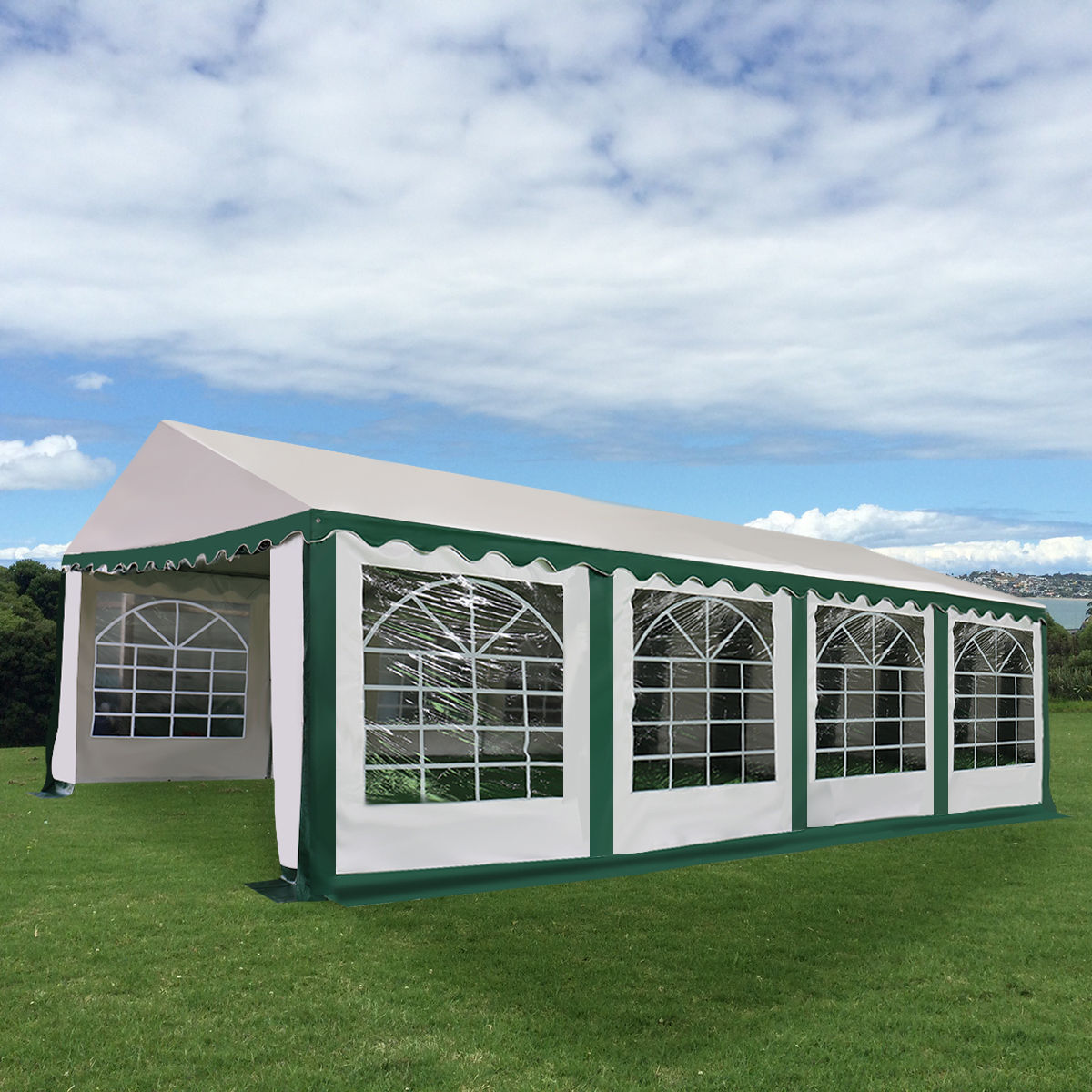 Costway 16 2/5'X26' Tent Shelter Heavy Duty Outdoor Party Wedding Canopy Carport Green