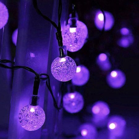 qedertek christmas lights led string lights holiday lighting solar string lights led bubble ball holiday decorations 30 led crystal globe fairy lights