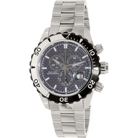 Invicta Men's Pro Diver 12860 Silver Stainless-Steel Swiss Quartz Watch