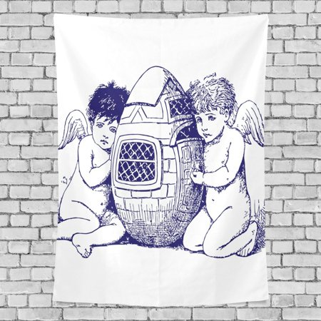 POPCreation Easter Egg Angel Home Decoration Wall Tapestry 60x40 inches