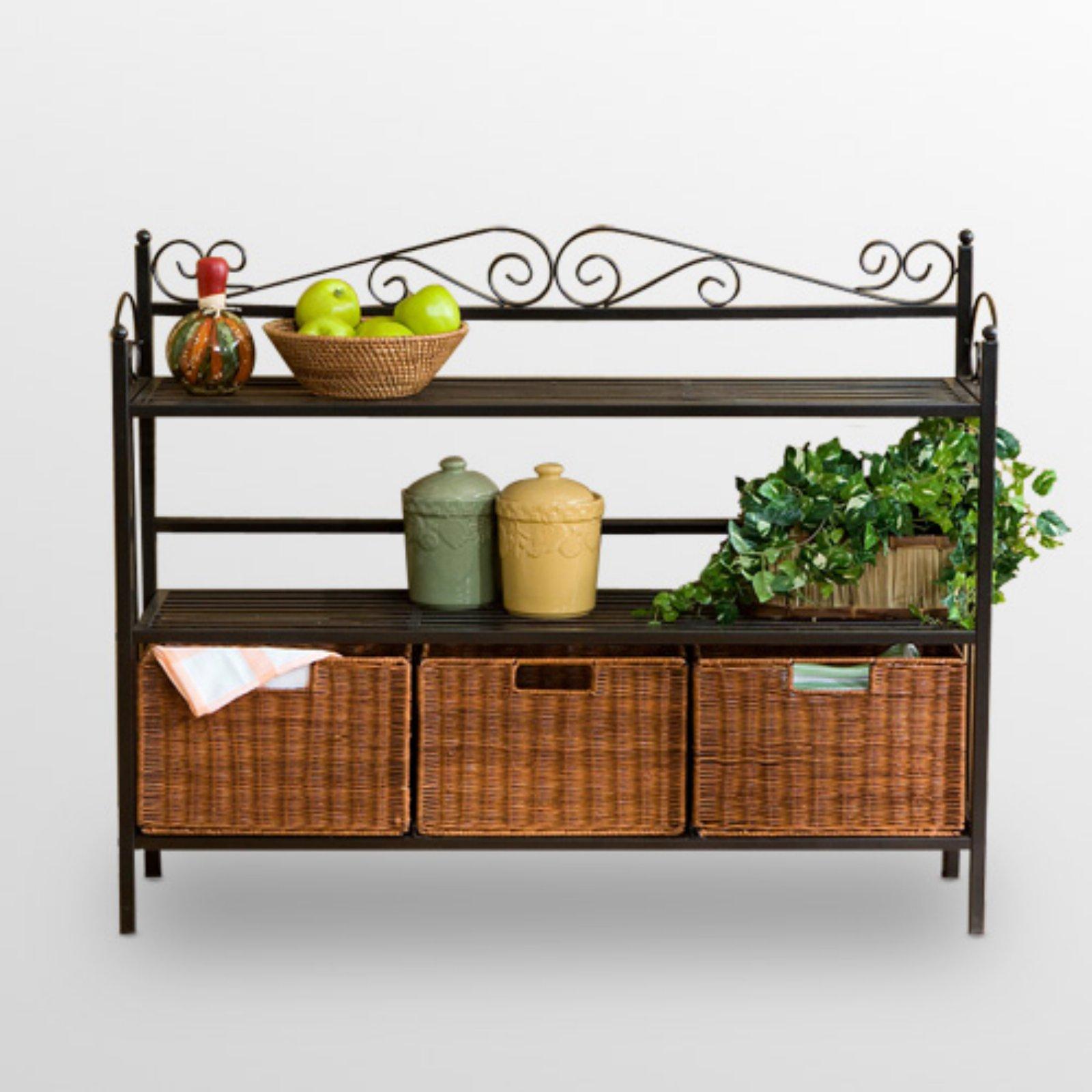Low Celtic Kitchen Storage Unit with Baskets