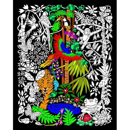 Rainforest - 16x20 Fuzzy Velvet Poster - Velvet Art Posters To Color