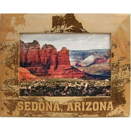 Sedona Arizona Laser Engraved Wood Picture Frame (5 x - Sedona Framed