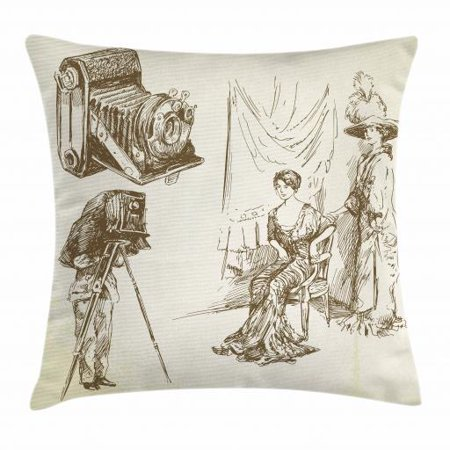 Vintage Woman Throw Pillow Cushion Cover 1b39d8447