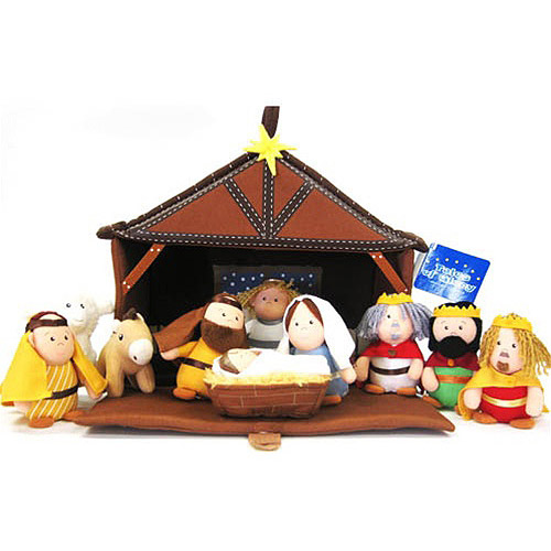 Tales of Glory Plush Nativity 11-Piece Play Set
