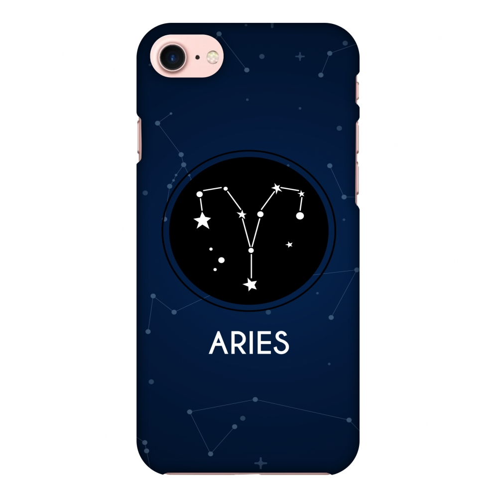 iPhone 8 Case, Premium Handcrafted Designer Hard Shell Snap On Case Printed Back Cover with Screen Cleaning Kit for iPhone 8, Slim, Protective - Stars Aries