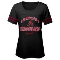 MLB Arizona Diamond Backs TEE Short Sleeve Girls Fashion 60% Cotton 40% Polyester Alternate Team Colors 7 - 16