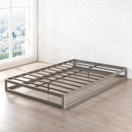 best price mattress 9 inch metal platform bed frame round type multiple sizes. Black Bedroom Furniture Sets. Home Design Ideas