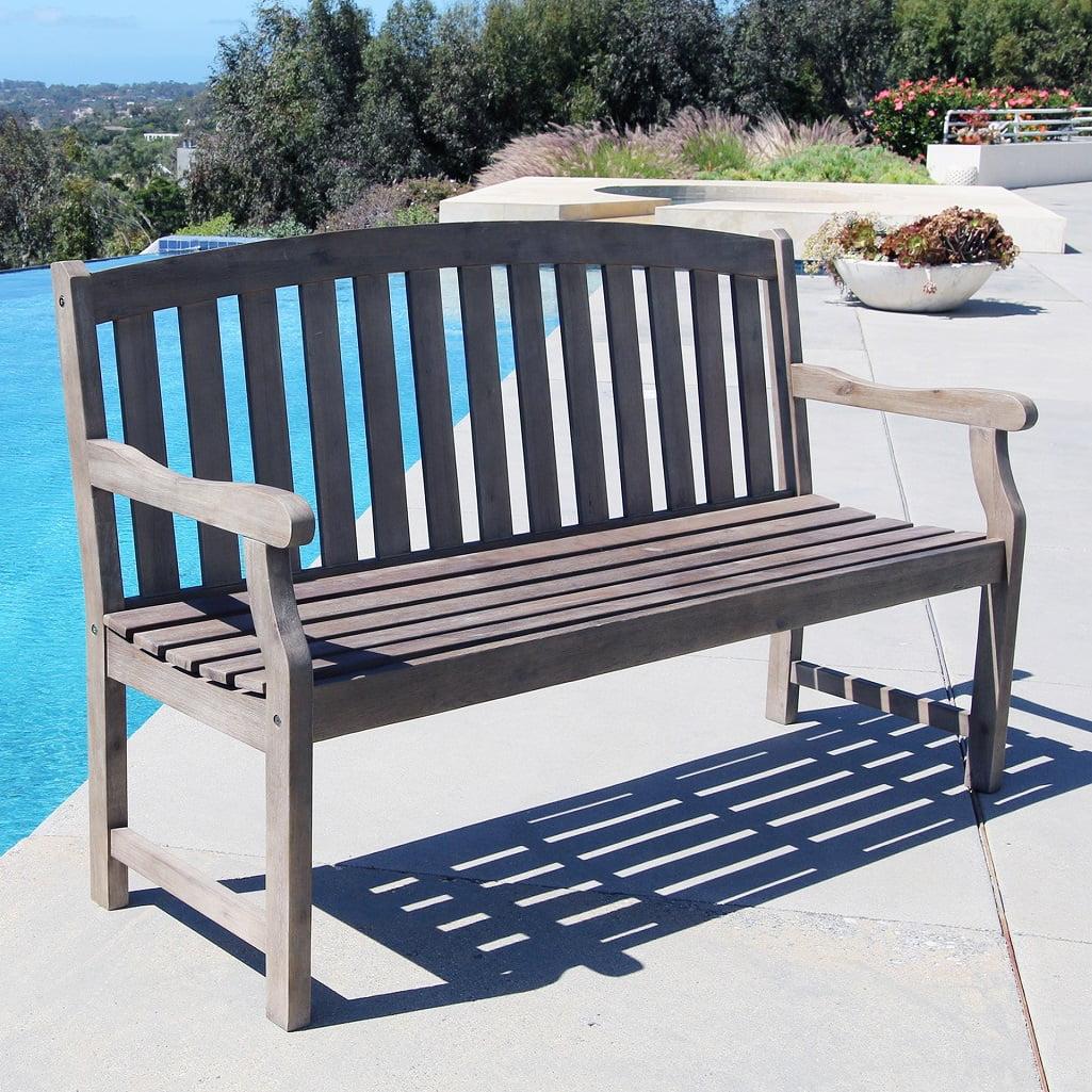 Renaissance Outdoor Hand-scraped Hardwood Bench by DVG