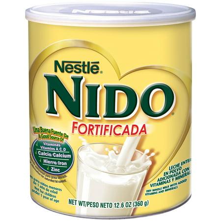 NIDO Fortificada Dry Milk 12 6 oz  Canister - Walmart com