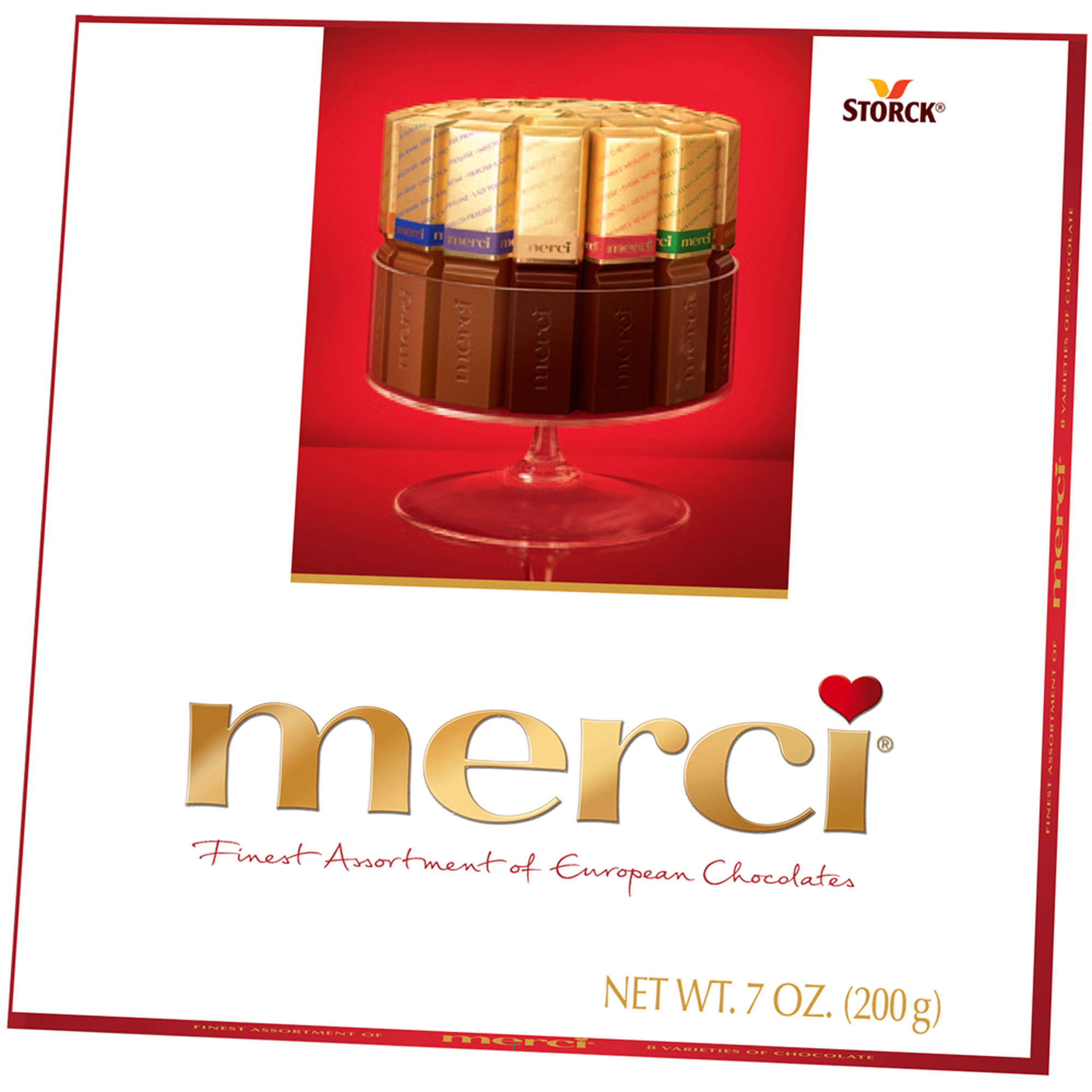 Merci Finest Assortment of European Chocolates, 7 oz