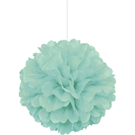 Tissue Paper Pom Pom, Mint Green, 16 in, 1ct
