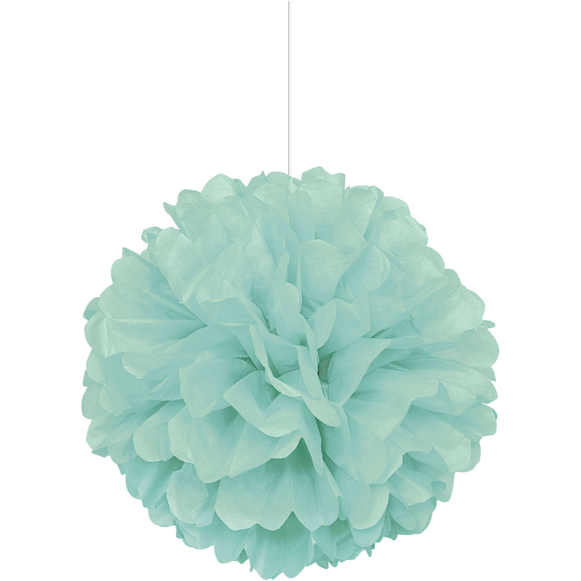 Tissue Paper Pom Pom, 16 in, Mint Green, 1ct