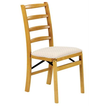 Shaker Ladder Back Hardwood folding chair - Oak - Set of 2 ()