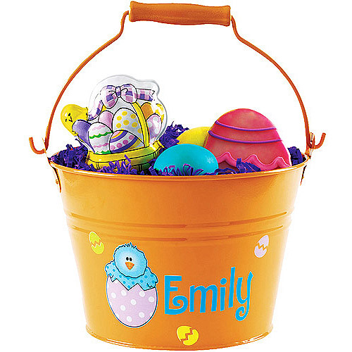 Personalized Easter Pail, Orange