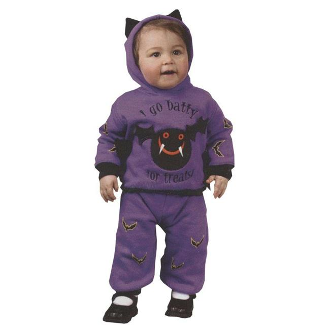 Costumes For All Occasions Fw9676L Hooded Bat 2Pc 18 24 Months