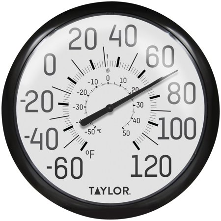 Taylor Precision Products 6700 13.25-Inch Big and Bold Dial Outdoor Thermometer ()