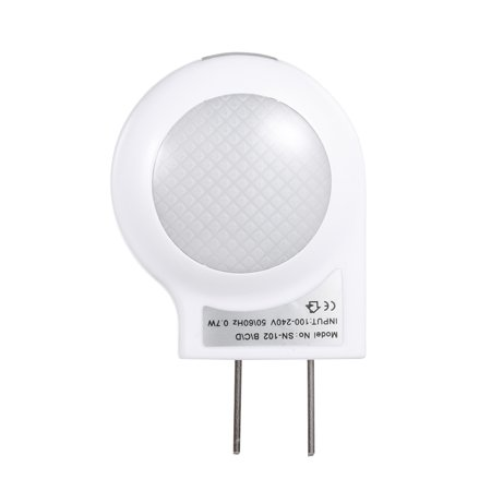 AC110-240V 0.7W Mini LED Snail Night light Auto Night Lamp Built-in Light Sensor Control Light Wall Lamp For Baby Kids Bedroom (Wall Plate With Built In Night Light)