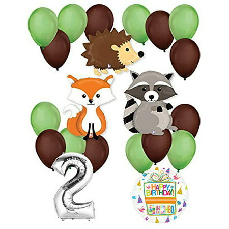 Woodland Critters Creatures 2nd Birthday Party Supplies and Balloon Decorations