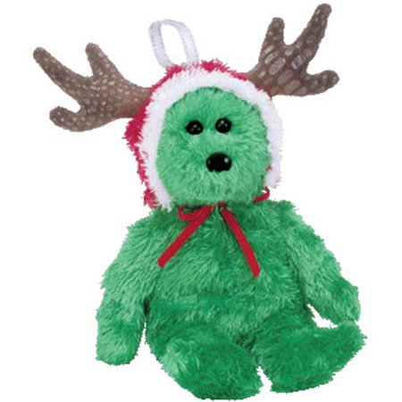 TY Jingle Beanie Baby - 2002 HOLIDAY TEDDY (Green Version) (5.5 inch)