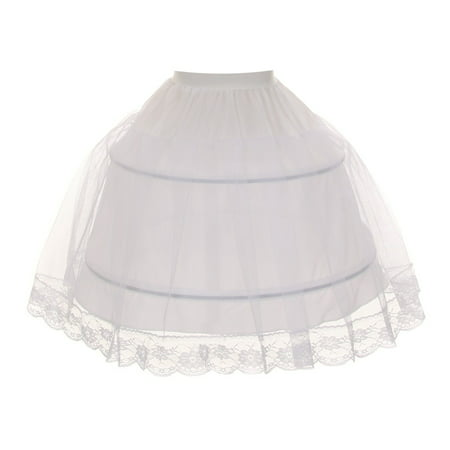 Kids Dream Little Girls White Half Hoop Wire FULL Princess Petticoat 2-6](White Princess Leia Boots)
