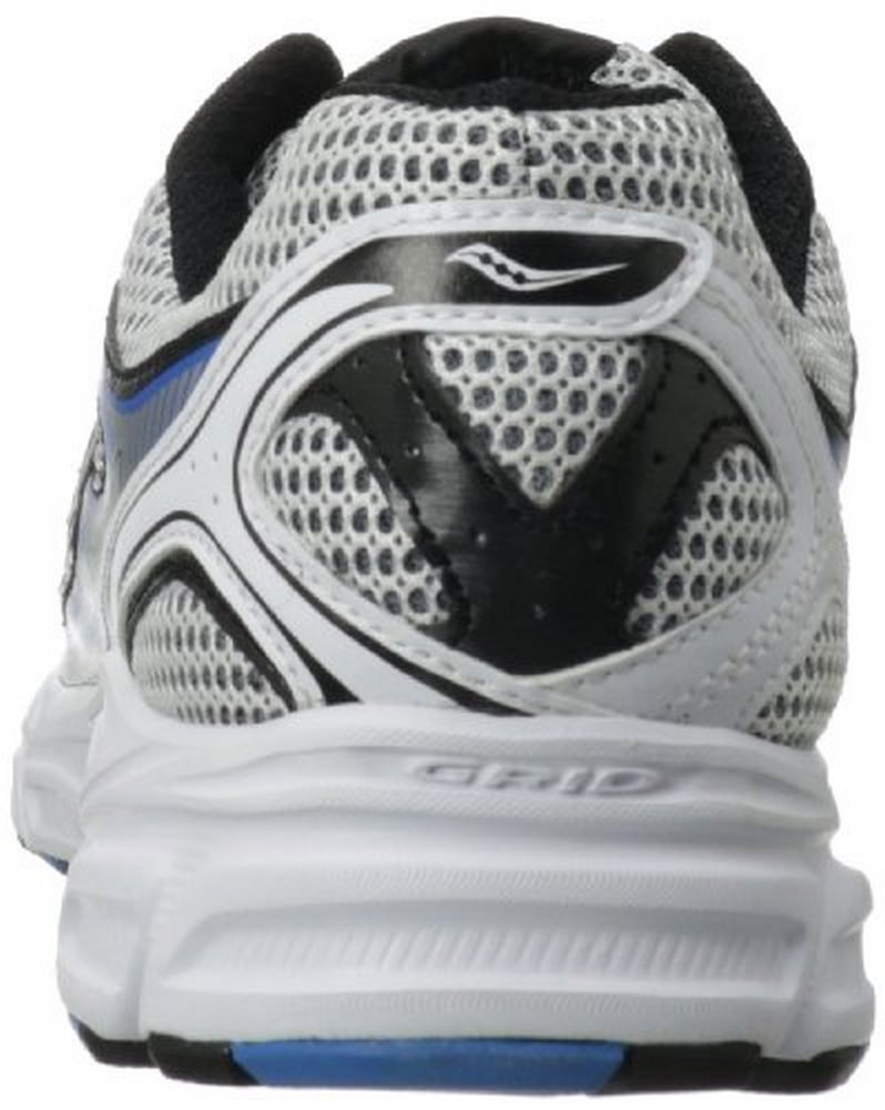 Saucony Men's Cohesion 7 Running Shoe,White Black Royal,7.5 M US by