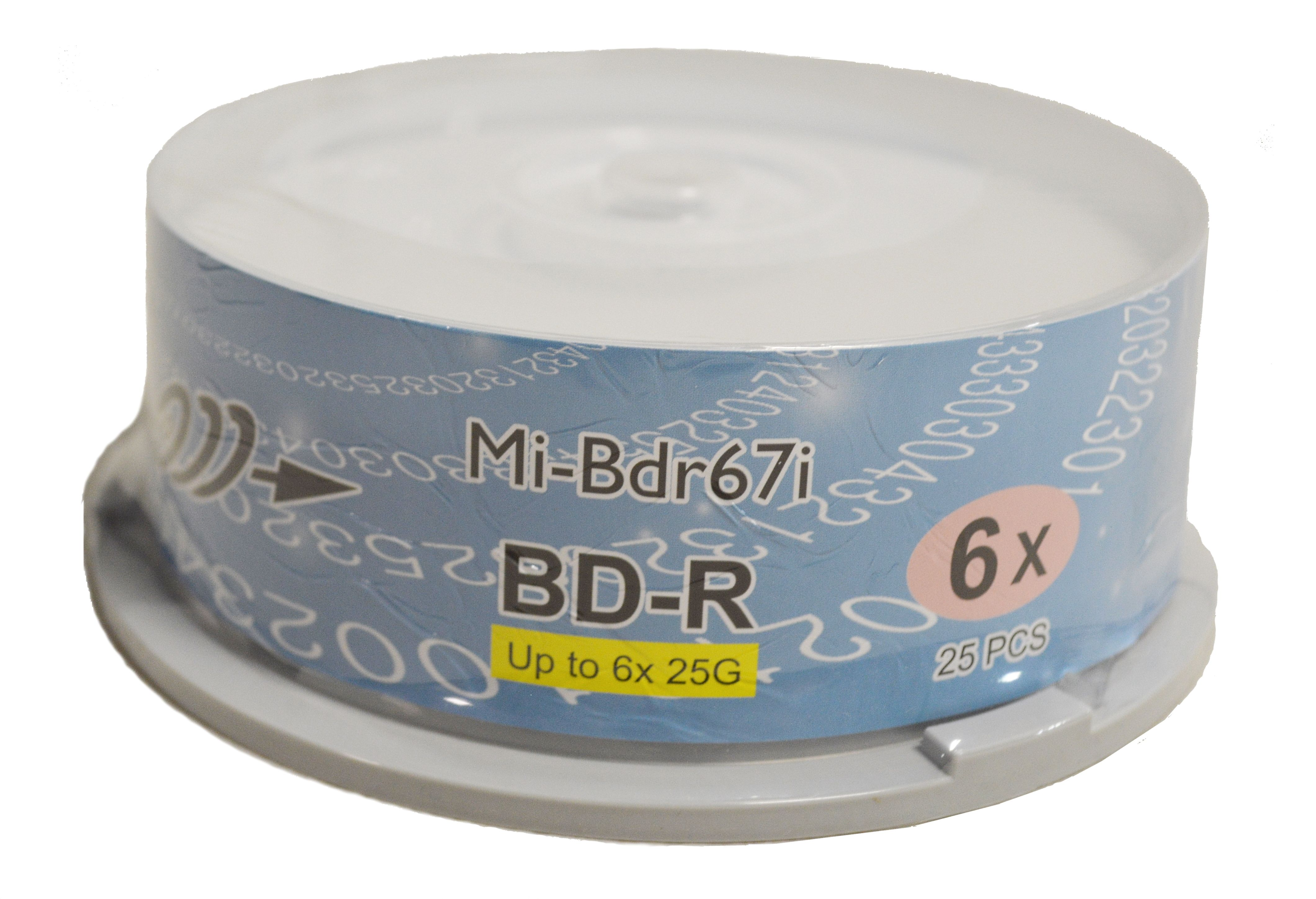 photograph about Printable Blu Ray Discs called Copystars Blu Ray Media Discs BD-R Disc 25 GB 6X White Inkjet Printable Blank Medias Solitary Layer Recordable Disc Spindle 25desktops