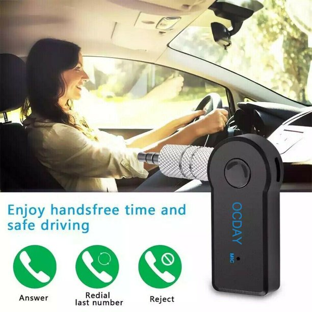 Universal Car 3 0 Wireless Audio Music Stereo Receiver Adapter Hands Free 3 5mm For Smartphone Tablet Pc Devices Walmart Com Walmart Com