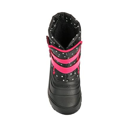 Wonder Nation Polka Dot Heart Two Strap Snow Boot (Toddler Girls)