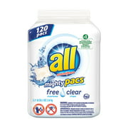 All Mighty Pacs Free & Clear Laundry Detergent 120 loads
