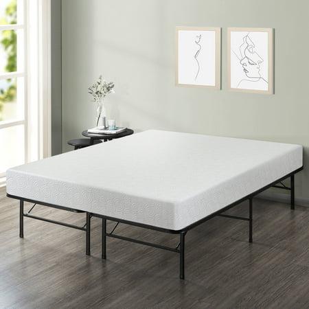 Best Price Mattress 7 Inch Gel Memory Foam Mattress and Innovated Platform Metal Bed Frame Set, Multiple Sizes (7 Inch Platforms)