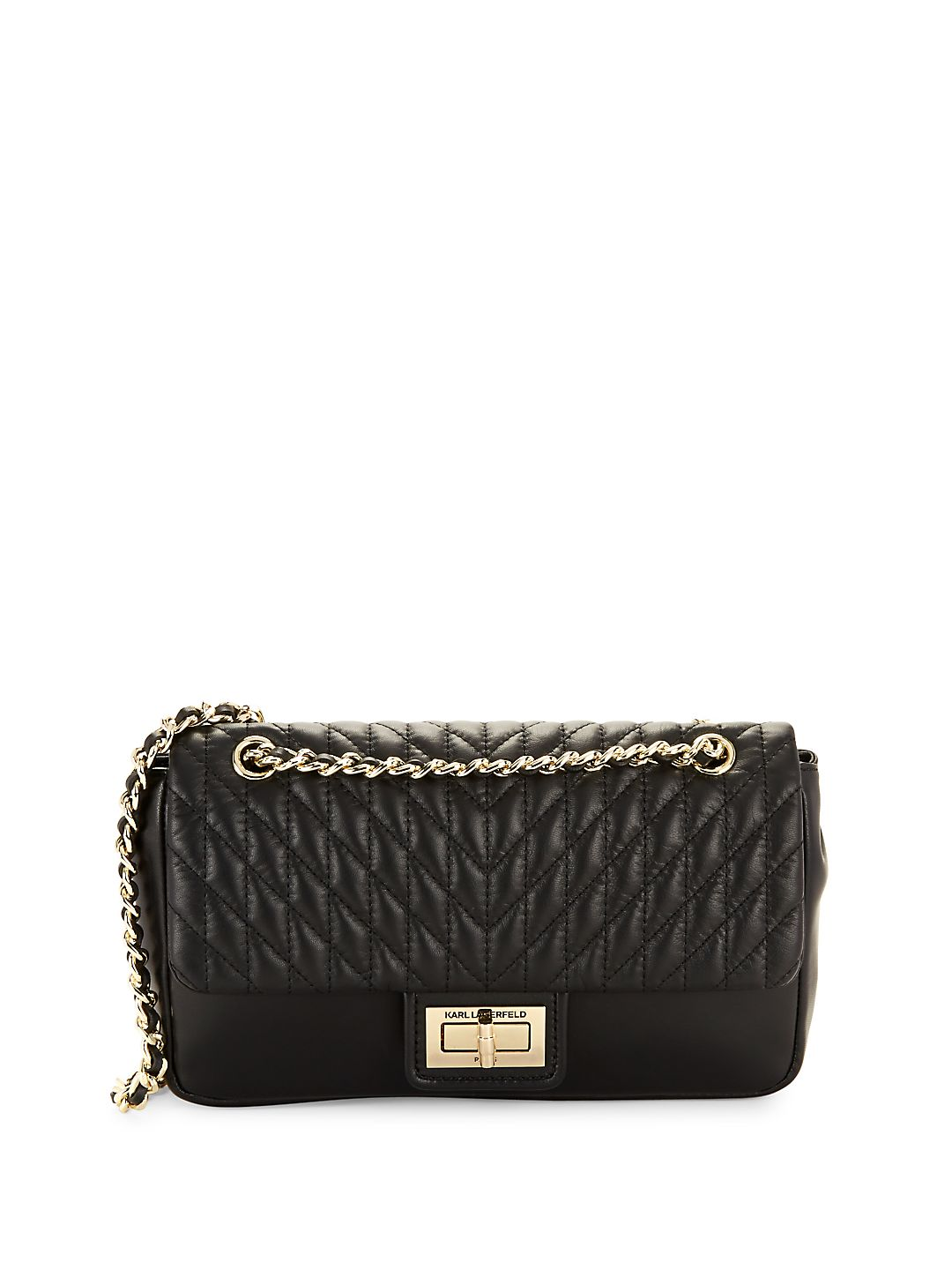 Agyness Quilted Shoulder Bag
