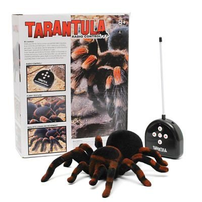 Meco Meco Spider Scary Toy Remote Control 8'' 4ch Realistic Rc Prank Holiday