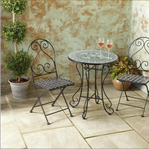 Fleur De Lis Living Arana New Mosaic 3 Piece Bistro Set