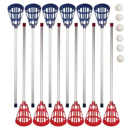Champion Sports Soft Lacrosse Set (includes 12 Sticks & 6 Balls)