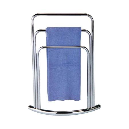 Halia chrome metal transitional free standing kitchen - Bathroom towel racks free standing ...