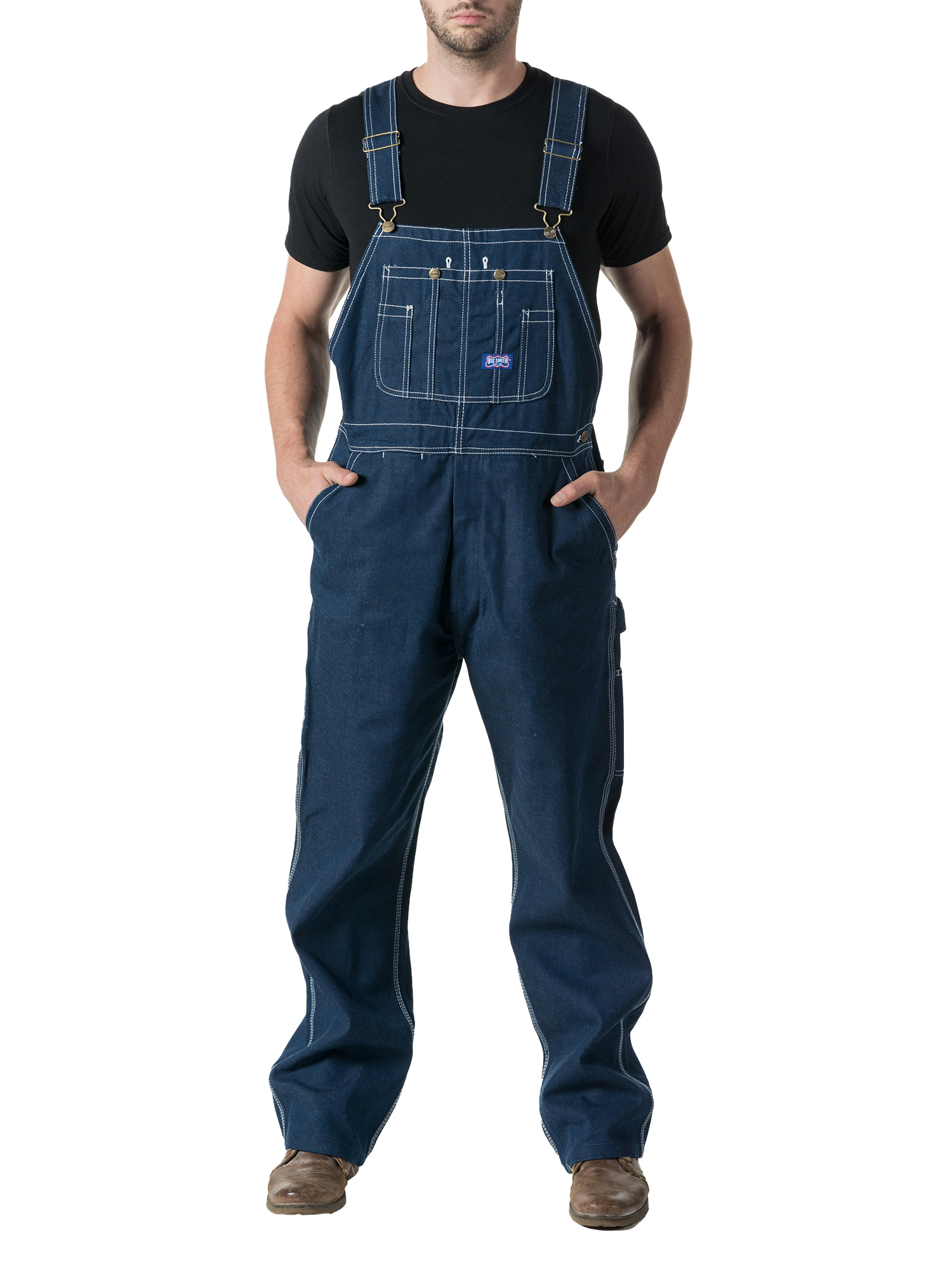 Big Men's Rigid Denim Bib Overall