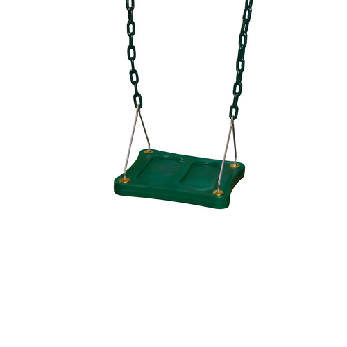 Gorilla Playsets Stand 'N Swing, Green with Green Chains