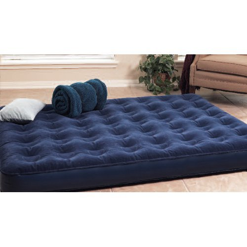 Texsport - Deluxe Air Beds with Built In Battery Pump, Queen