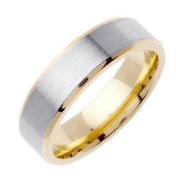 Mens Two Tone Wedding Bands Two Tone Wedding Band With Mens Two
