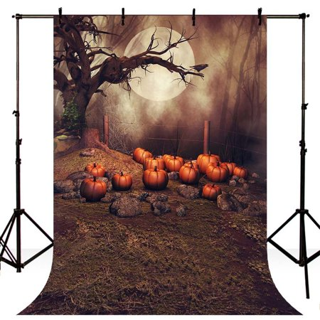 MOHome Polyster 5x7ft Photography Background Halloween Horror Night Theme Party Backdrop Studio Background - Theme Park Adventure Halloween Horror Nights