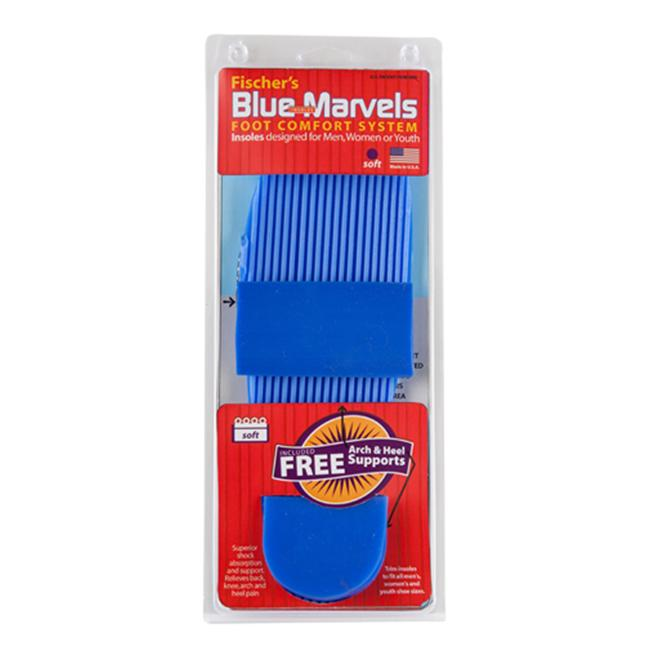 Jifram Extrusions 07000325-3G Fischer s Blue Marvels Soft Shoe Insole, Arch & Heel Support Foot Comfort System
