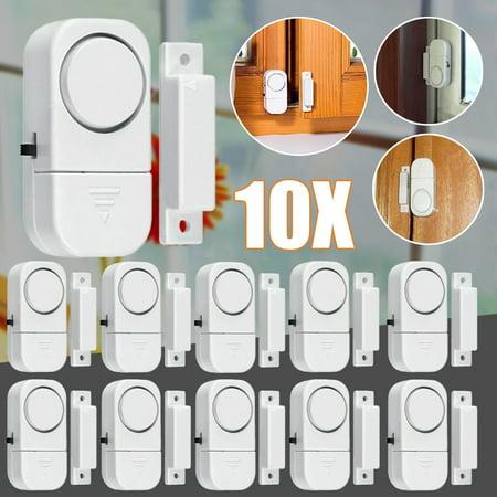 Window Alarm, 10-Pack Mini Window Door Entry Alarm Burglar Security Alarm System Magnetic Sensor Protector for Home