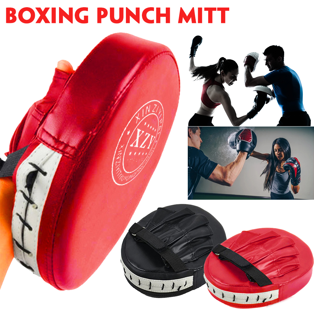 Details about  /2 x Boxing Kick Hand Target Punch Pad Glove for Focus Training PU Leather Sponge
