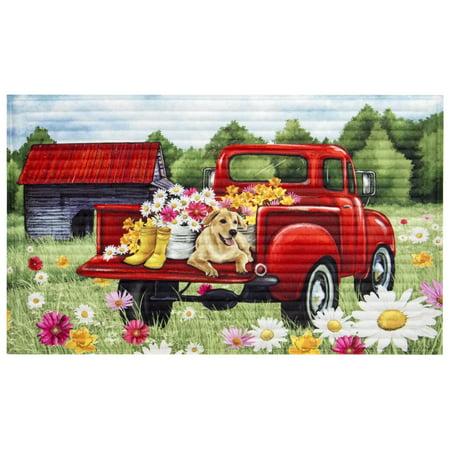 Mainstays 18 Quot X 30 Quot 3d Red Truck Mat 1 Each Walmart Com