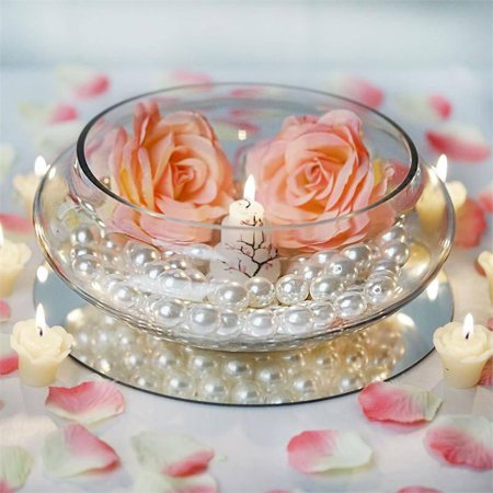 Efavormart Clear Floating Candle Glass Vase Bowls for Wedding Party Birthday Centerpieces Home Decorations Supplies (Small Glass Bowl Centerpiece)
